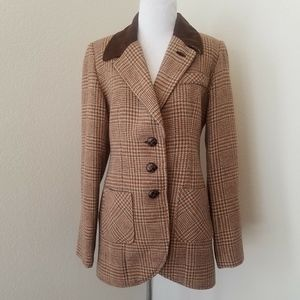 Soft Surroundings Tweed Wool Rabbit Hair Blazer